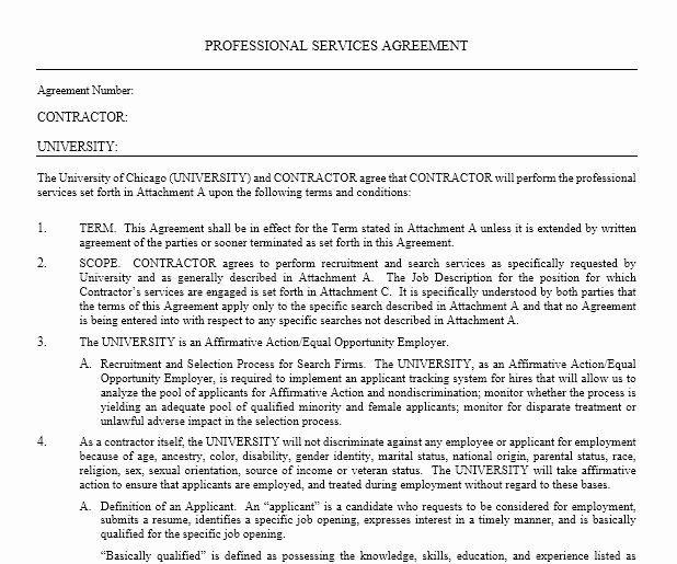 Professional Services Agreement Template Fresh Professional Services Agreement Templates 24 Free Samples Microsoft Word Templates