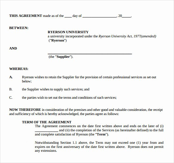 Professional Services Agreement Template Lovely Sample Professional Services Agreement 12 Free In Pdf Word