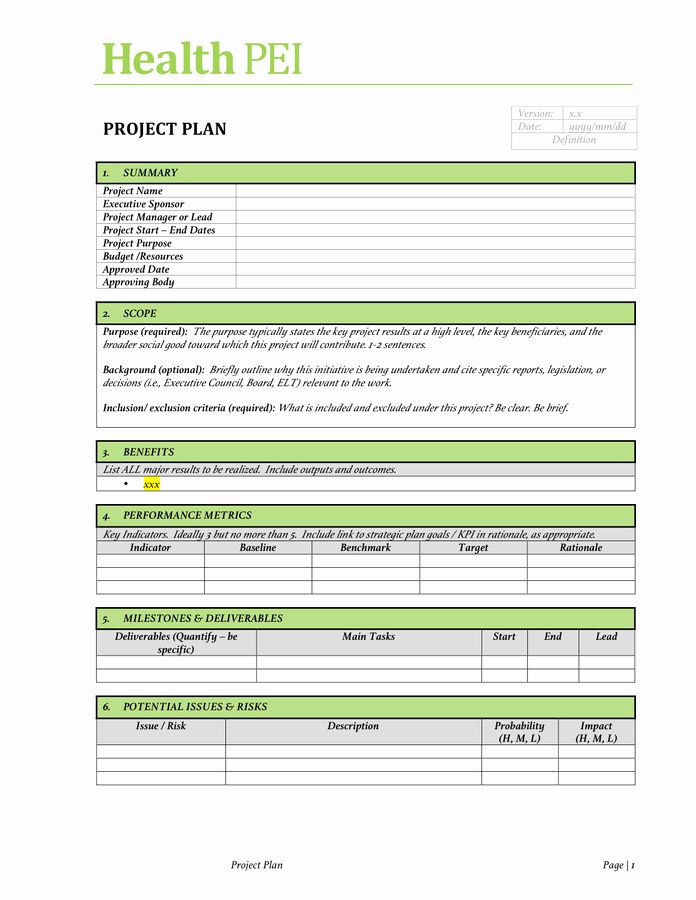 Project Charter Example Pdf Awesome Project Charter Template Free Documents for Pdf Word and Excel
