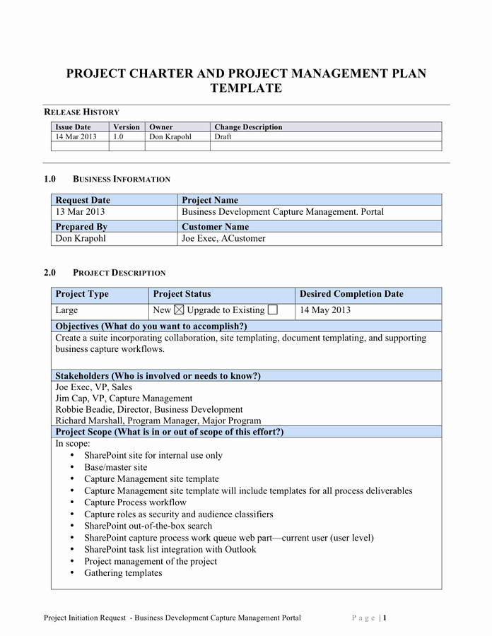 Project Charter Example Pdf Awesome Scope Of Work Template Free Documents for Pdf Word and Excel