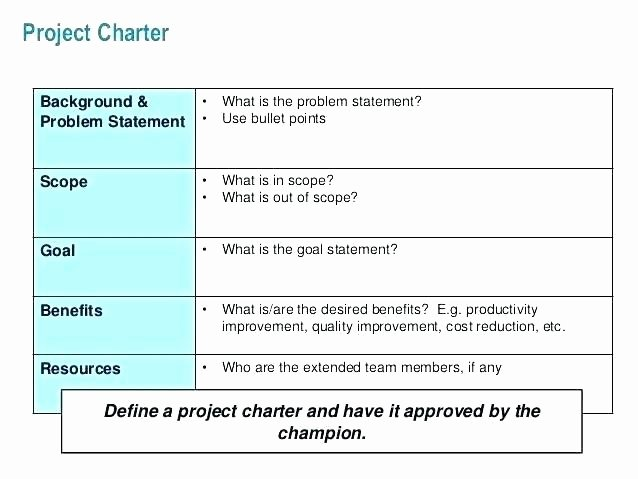 best project charter template