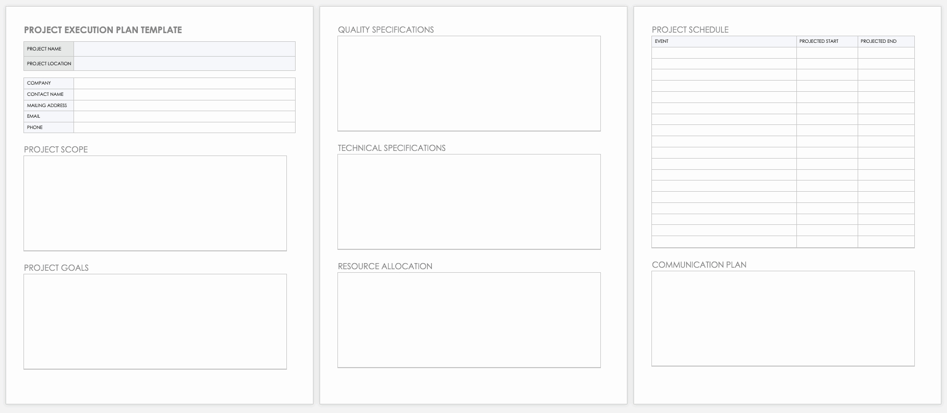 Project Execution Plan Template Awesome Free Project Plan Templates for Word