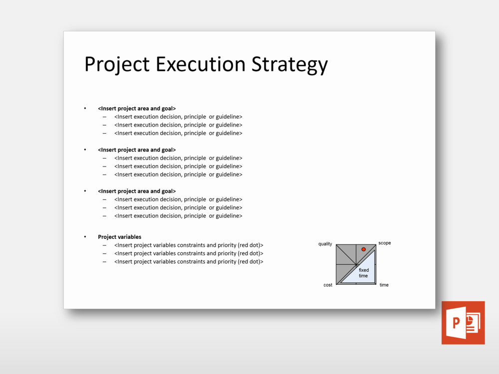 Project Execution Plan Template Elegant Project Execution Strategy