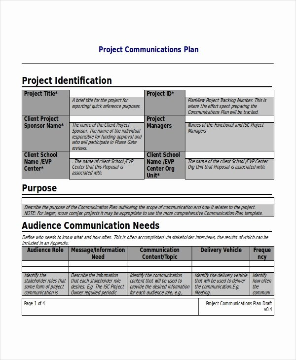 Project Execution Plan Template Fresh Project Plan Template 17 Free Word Pdf Document