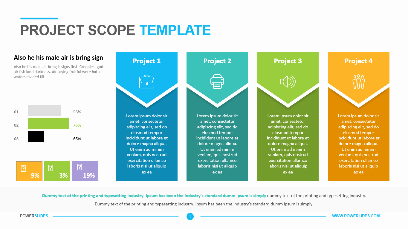 Project Management Scope Template Elegant Project Scope Template Powerslides