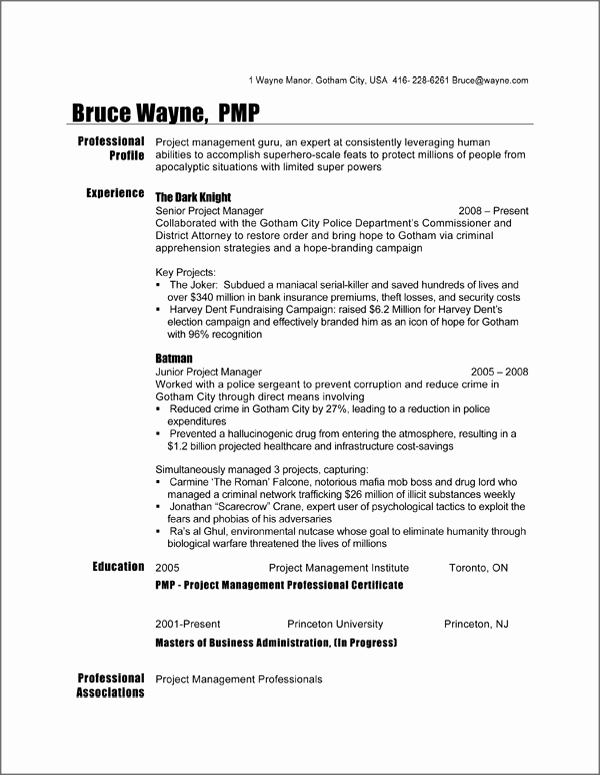 Project Manager Resume Sample Doc Unique Canadian Resume format Doc – Planner Template Free