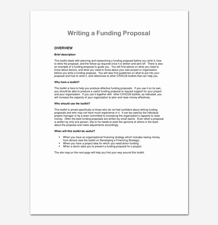 Project Proposal format for Student Awesome Project Proposal Template for Word & Pdf format