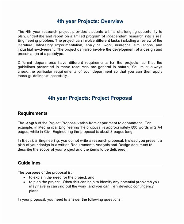 Project Proposal format for Student Beautiful 30 Project Proposal Examples Word Pdf