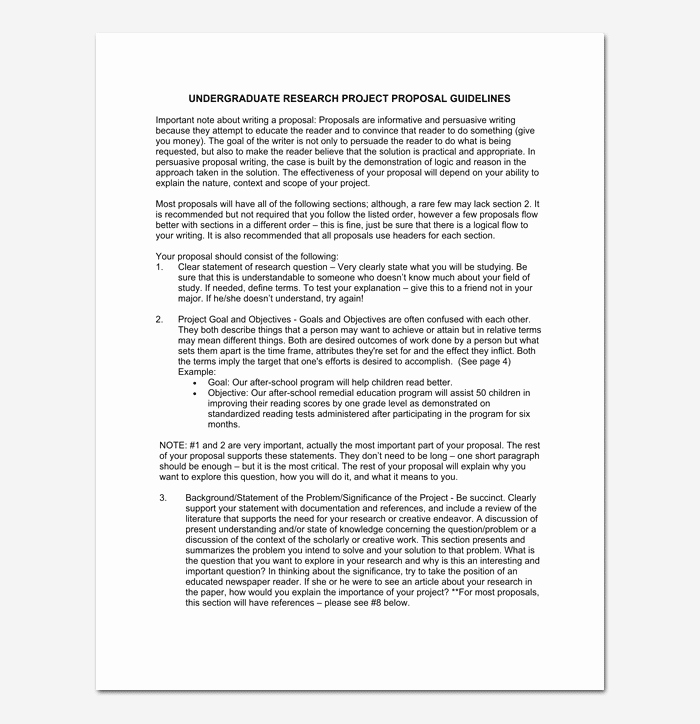 Project Proposal format for Student Beautiful Project Proposal Template for Word & Pdf format