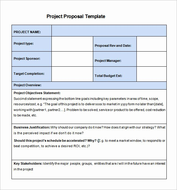 Project Proposal format for Student Elegant 47 Project Proposal Templates Doc Pdf