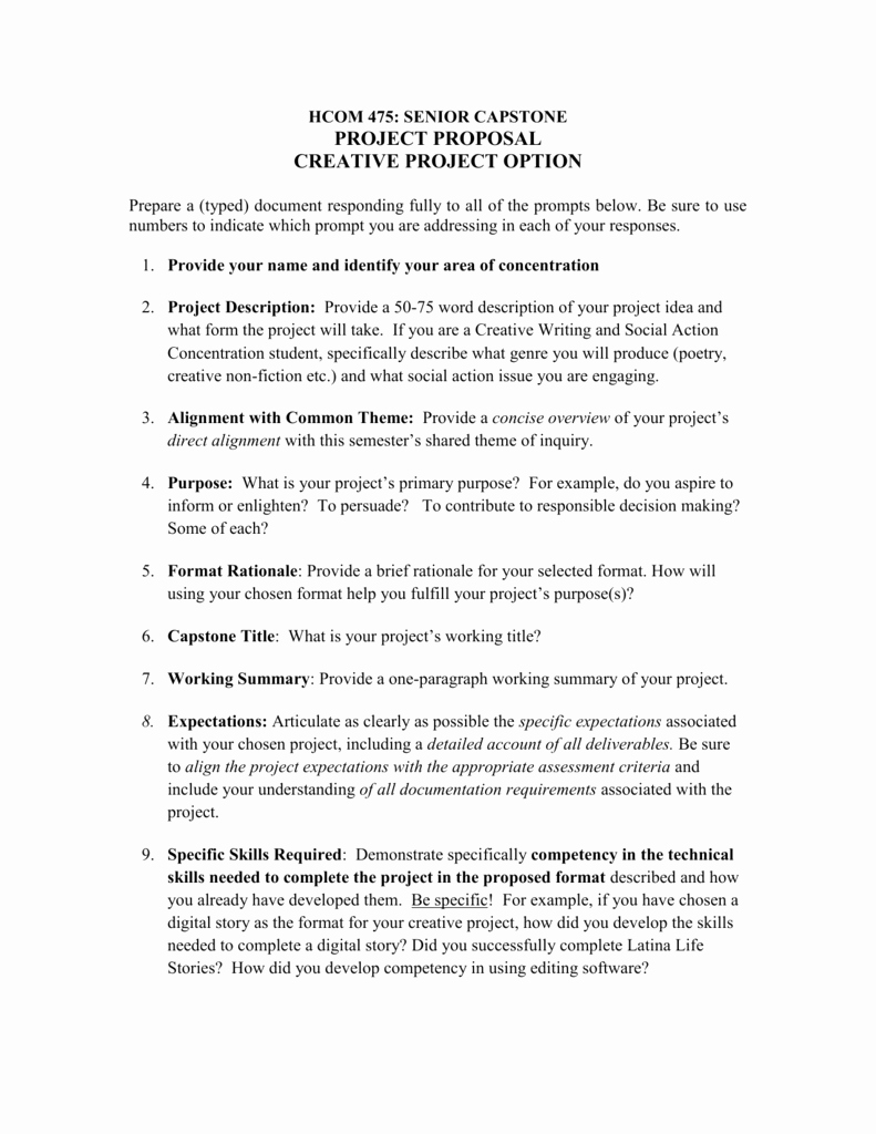 Project Proposal format for Student Elegant Creative Project Proposal Template