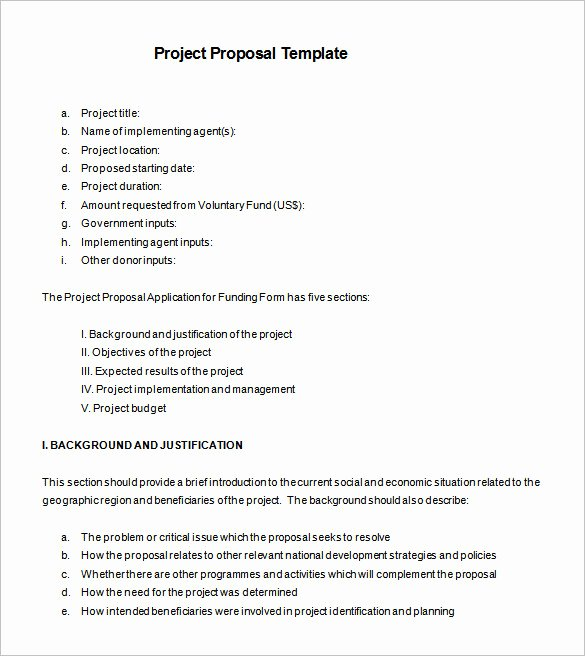 Project Proposal format for Student Fresh 27 Project Proposal Templates Pdf Doc
