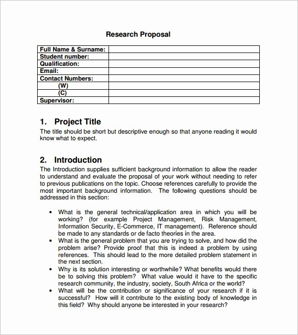 Project Proposal format for Student Unique Project Proposal Template 38 Free Word Ppt Pdf Documents Download