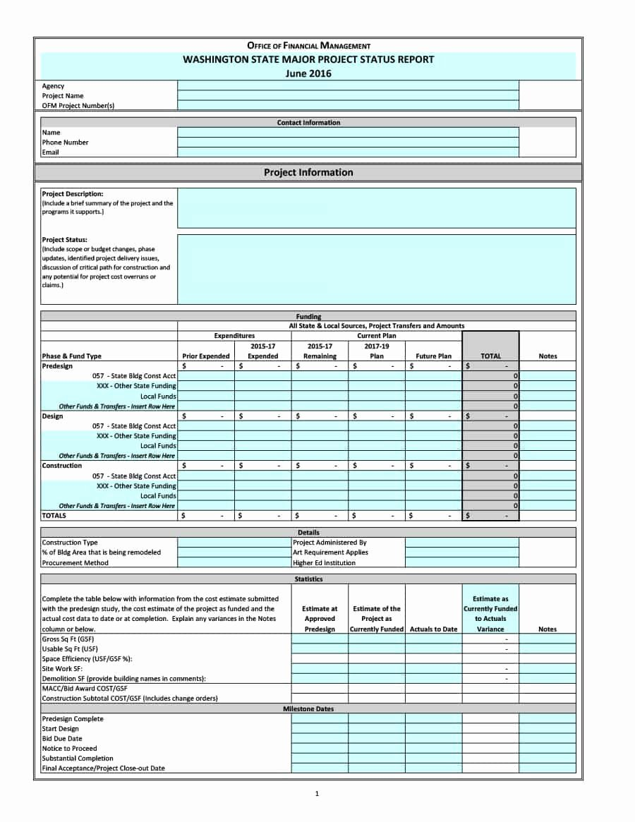 Project Report Template Word Best Of 40 Project Status Report Templates [word Excel Ppt] Template Lab
