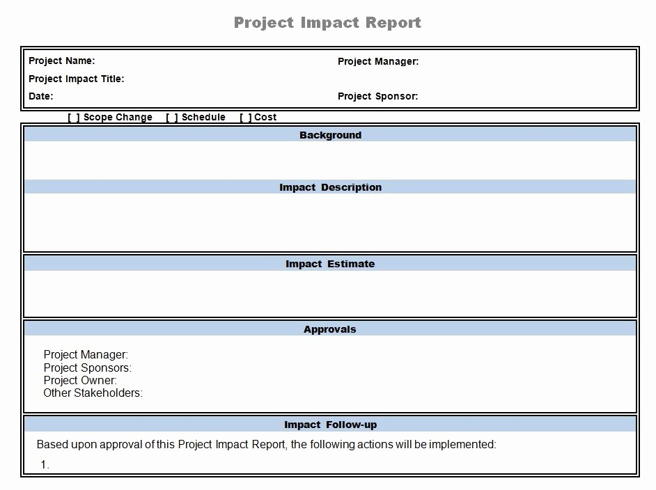Project Report Template Word Inspirational Using Point to Manage Project Changes & Impacts