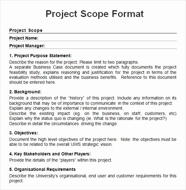 Project Scope Statement Example Pdf Awesome Pin by Sharlene Radday On Project Charter