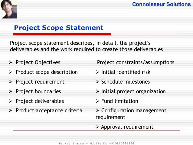 Project Scope Statement Example Pdf Inspirational Project Scope Management Process