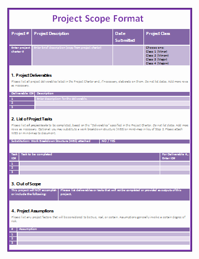 Project Scope Statement Template Awesome 9 Project Scope Templates