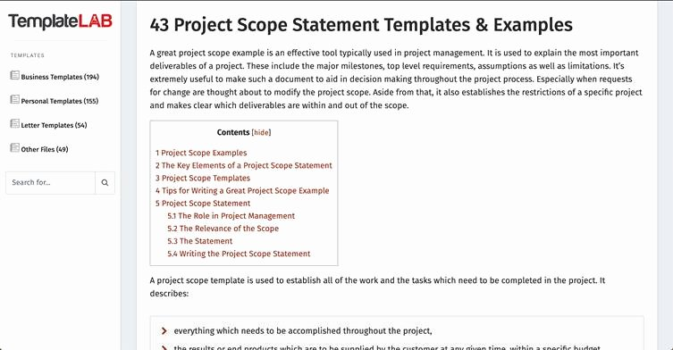 Project Scope Statement Template New How to Create Robust Project Scope and Avoid Scope Creep