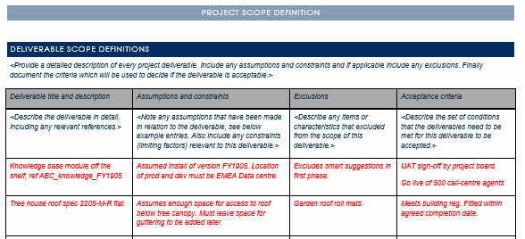 Project Scope Template Word Beautiful Project Scope Statement Template