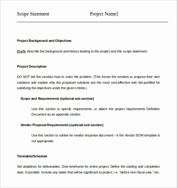 Project Scope Template Word Inspirational 17 Project Template Doc Pdf Ppt