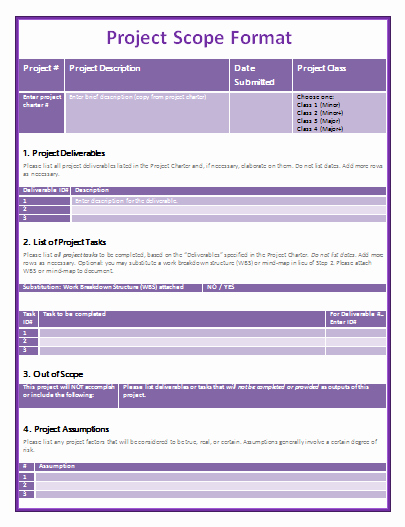 Project Scope Template Word Lovely Project Scope Statement Template Templates