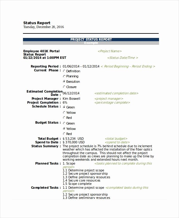 Project Status Report Example Awesome 21 Printable Project Status Report Templates Google Docs Apple Pages Pdf