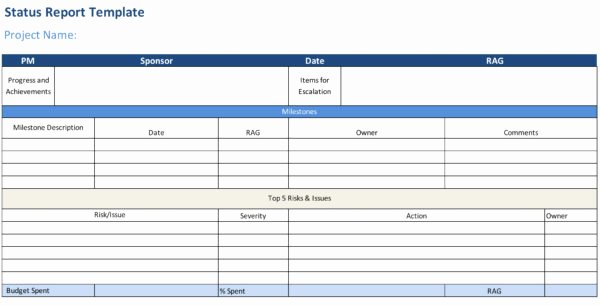 Project Status Report Example Beautiful Status Report Template Projectmanager