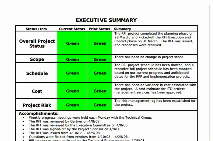 Project Status Report Example Elegant Status Report Template 27 Examples You Can Download Free