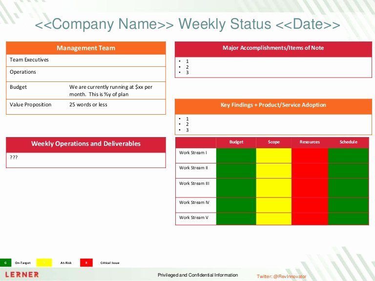 Project Status Report Example Fresh Executive Status Report Template