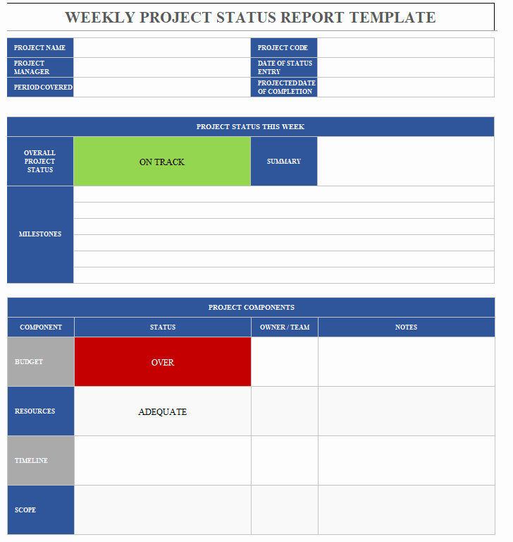 Project Status Report Example Inspirational Project Status Report Template & Project Status Reports Projectcubicle