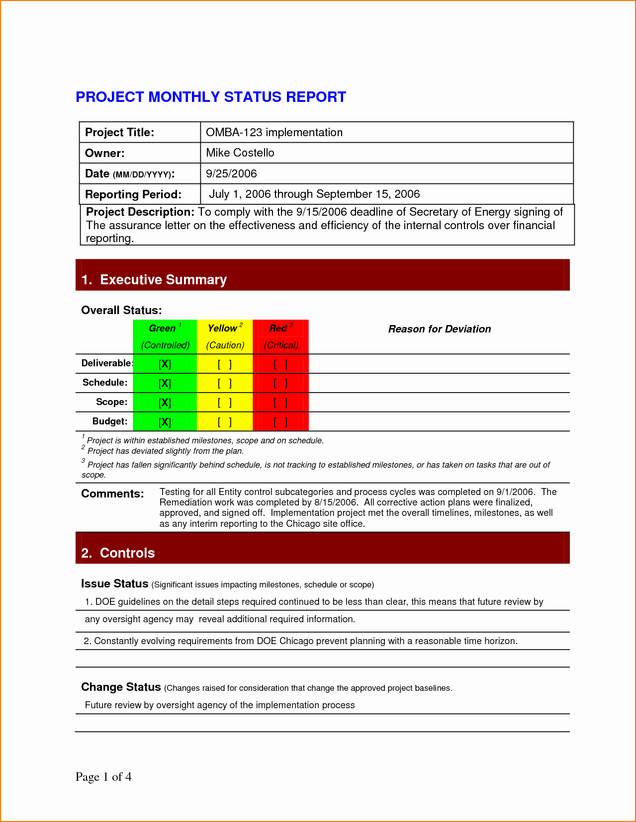Project Status Report Example Luxury 5 Project Status Report Template