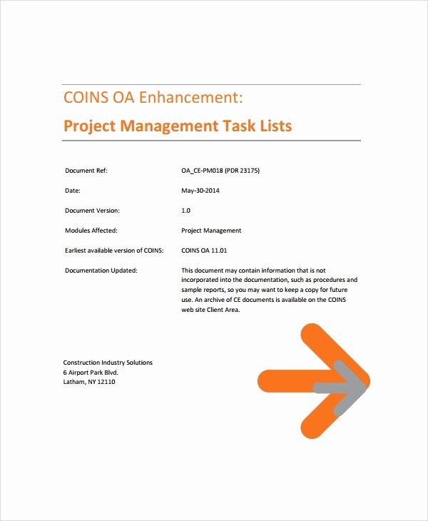 Project Task List Example Lovely Sample Project Task List Templates 7 Free Documents Download In Pdf