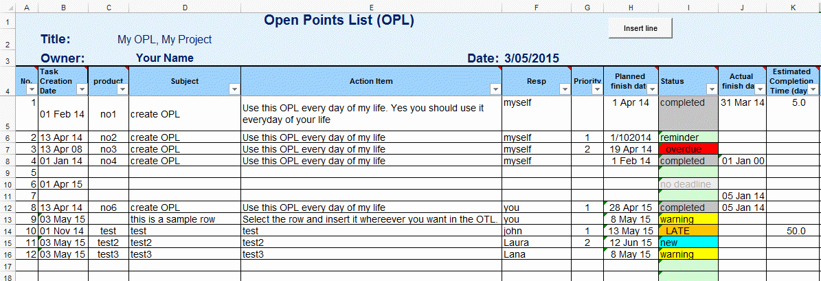 Project Task List Example Luxury Excel Template to Do List or Task List Template for Excel by Excelmadeeasy