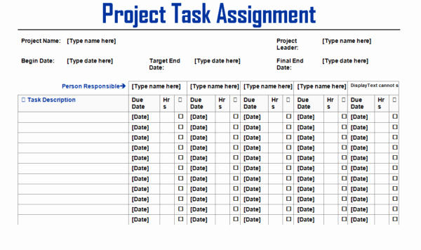 Project Task List Example New Project Team Task assignment List Template Example Violeet