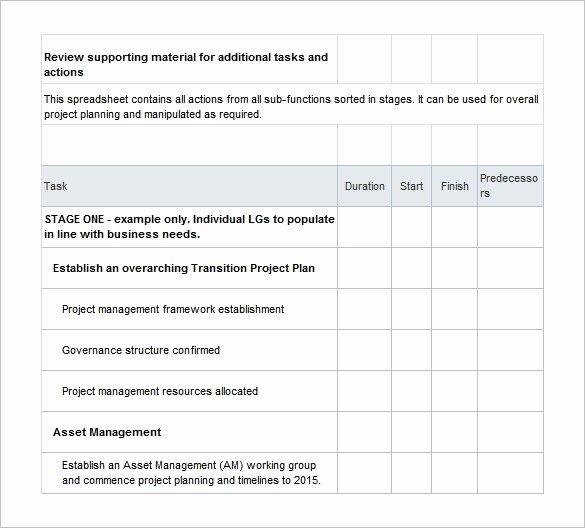 Project Transition Plan Template Excel Unique 12 Transition Plan Templates Free Sample Example format Download