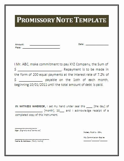 Promissory Note Template Texas Luxury Printable Sample Promissory Note form form Real Estate forms Word