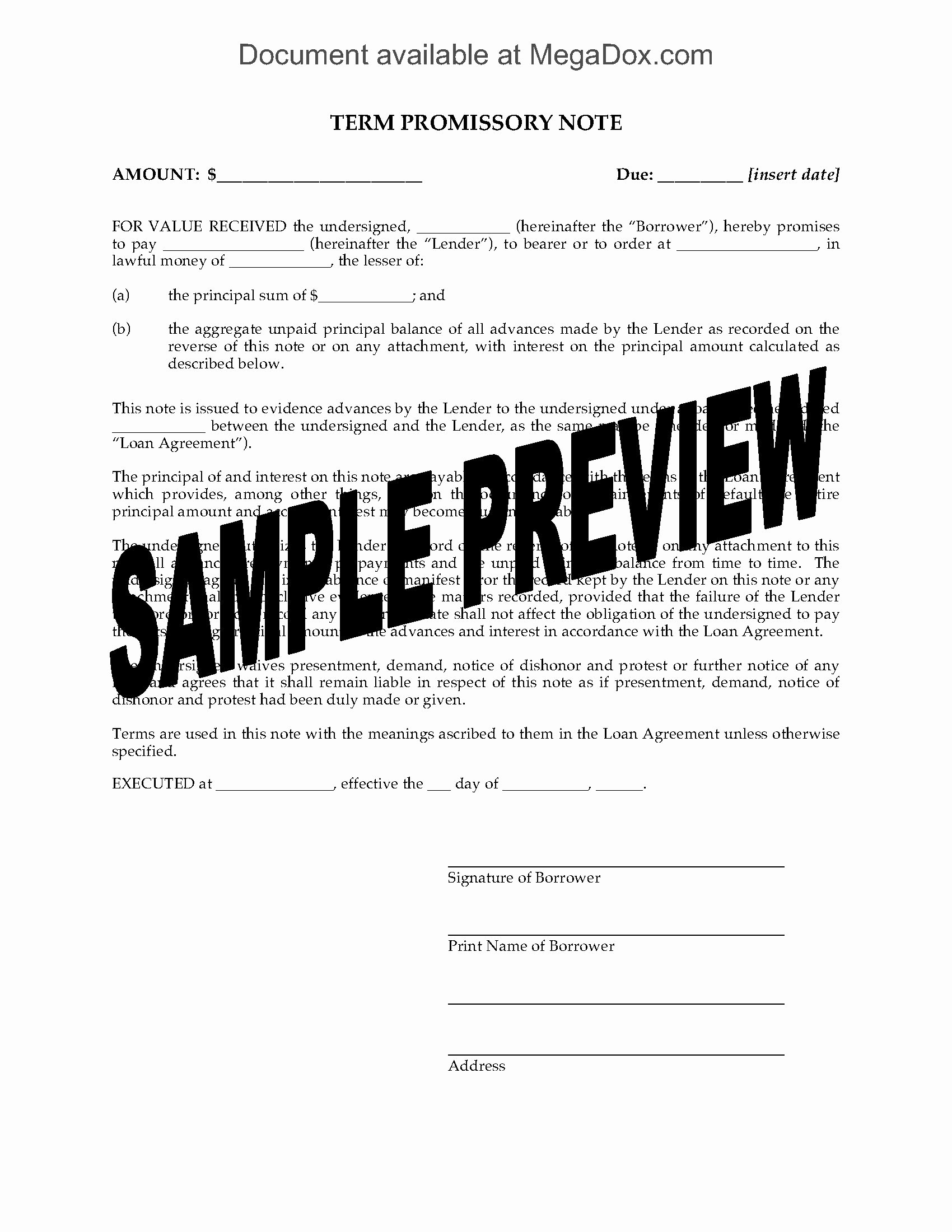 Promissory Note Template Texas Unique Grid Promissory Note for Multiple Loan Advances Legal forms and Business Templates