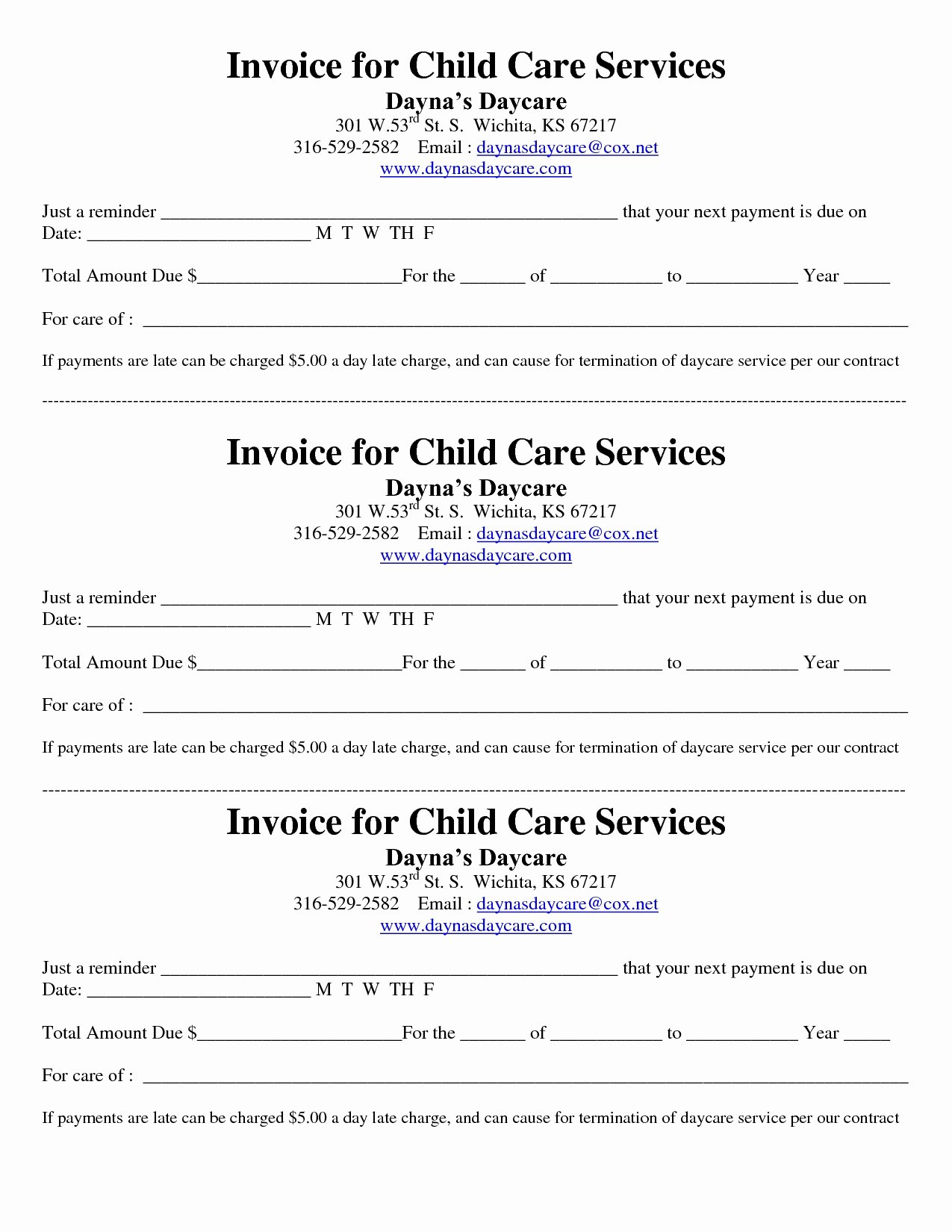 Proof Of Child Care Letter Best Of Child Care Invoice Invoice Template Ideas