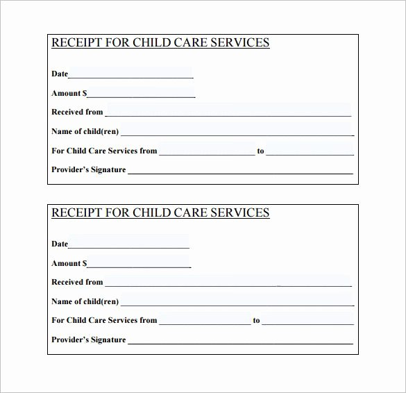 Proof Of Child Care Letter Fresh Daycare Receipt Template – 12 Free Word Excel Pdf format Download