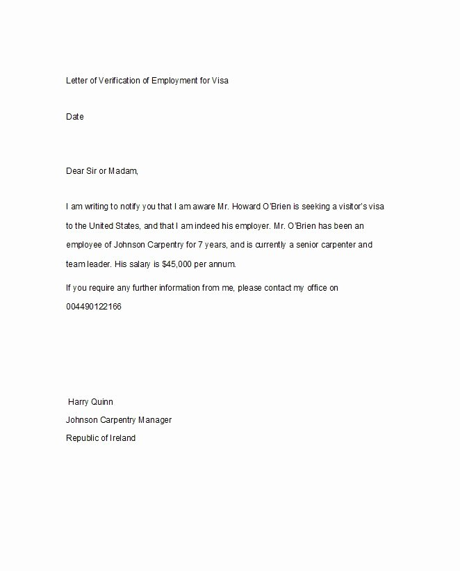 Proof Of Child Care Letter New 40 Proof Of Employment Letters Verification forms Templates & Samples Free Template Downloads