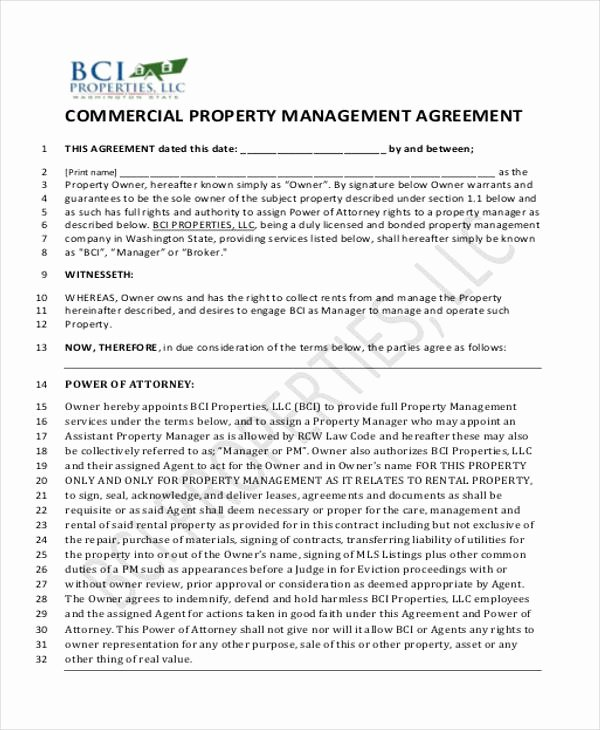 Property Management Agreement Pdf Best Of 8 Sample Mercial Property Management Agreements Word Pdf