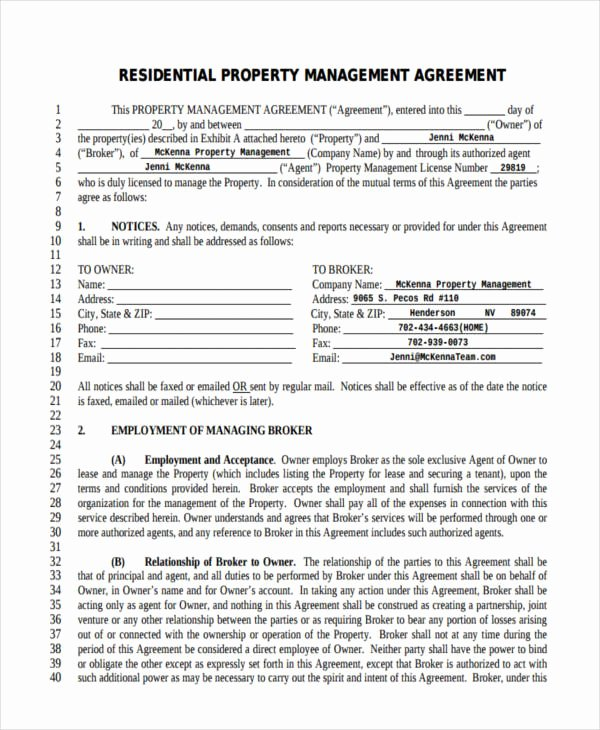 Property Management Agreement Pdf Fresh Free 64 Management Agreement Examples & Samples In Pdf Google Docs Word Pages