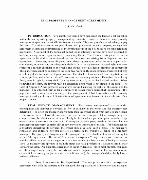 Property Management Agreement Pdf Lovely Sample Business Management Agreement 9 Examples In Word Pdf