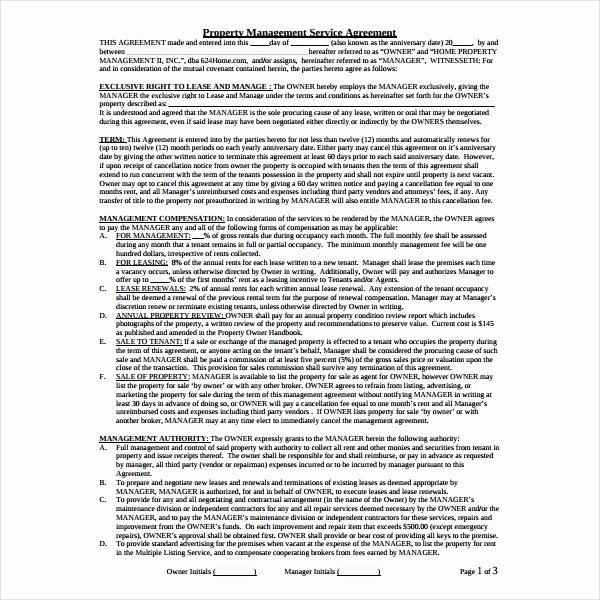 Property Management Agreement Pdf Luxury 9 Property Management Agreement Templates Pdf Word