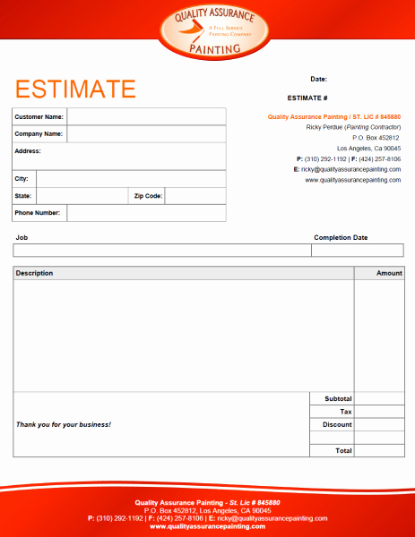 Property Repair Estimate Sheet Best Of Interior Design Estimate form Trend Home and Decor Repair