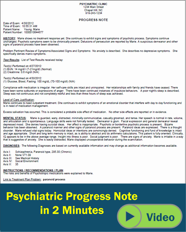 Psychiatric Progress Note Template Lovely 27 Of Psychiatry Documentation Template