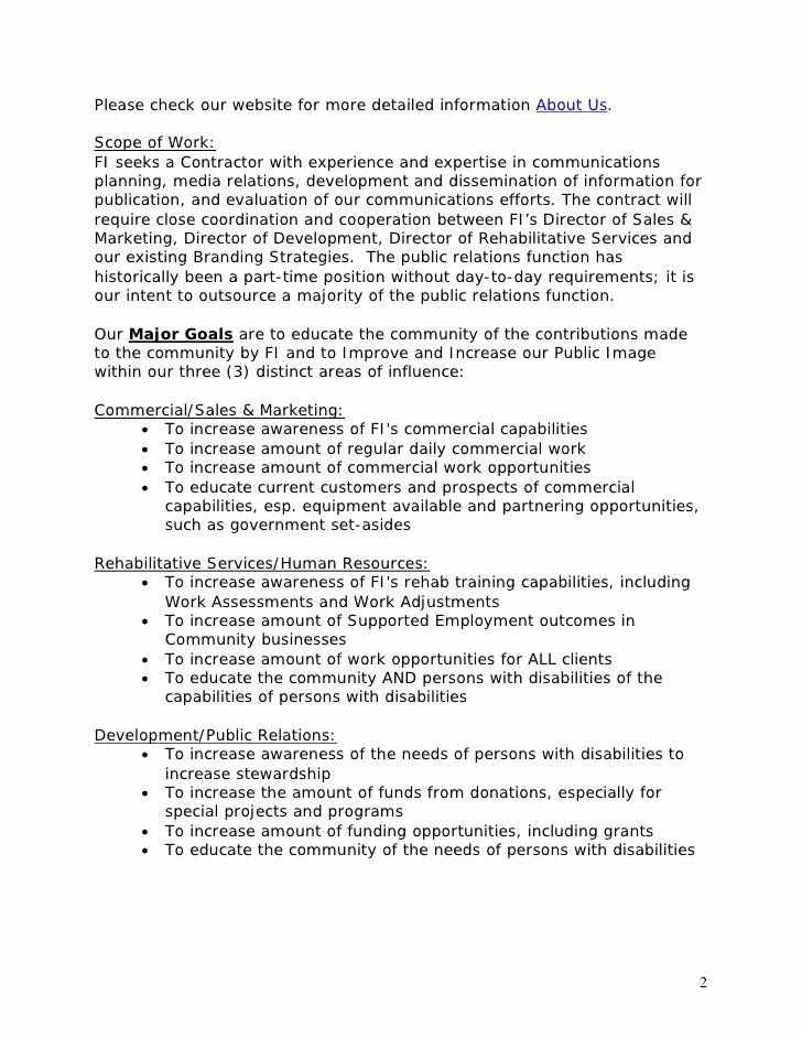 Public Relations Proposal Example Inspirational Template Public Relations Rfp