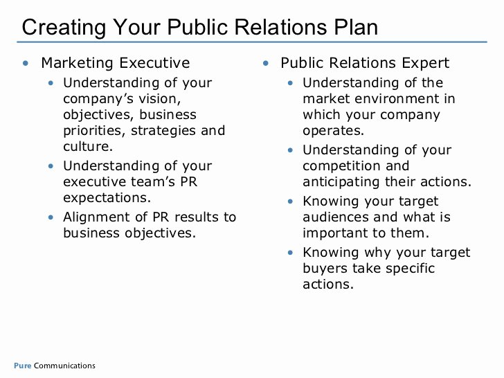 Public Relations Proposal Sample Best Of Creating Your Measurable Pr Plan