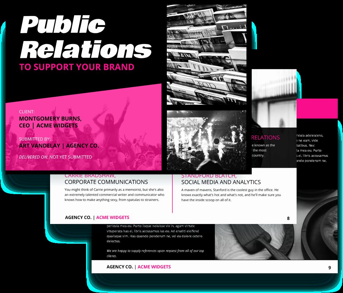 Public Relations Proposal Sample Best Of Public Relations Proposal Template Free Sample